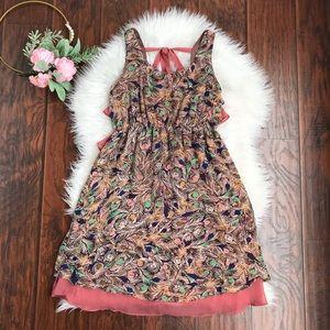 Judith March Feather Print Sleeveless Dress